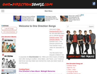 one-directionsongs.com screenshot