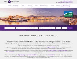 one-marbella.com screenshot