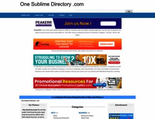 one-sublime-directory.com screenshot