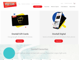 one4allgiftcard.co.uk screenshot