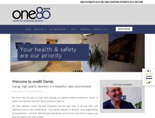 one80dental.co.uk screenshot
