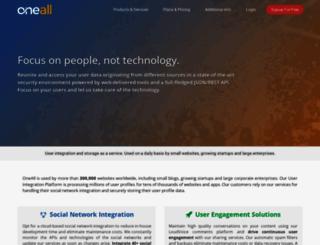 oneall.com screenshot