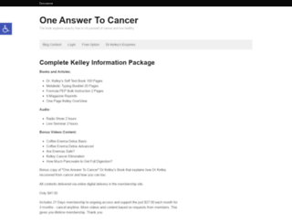 oneanswertocancer.com screenshot