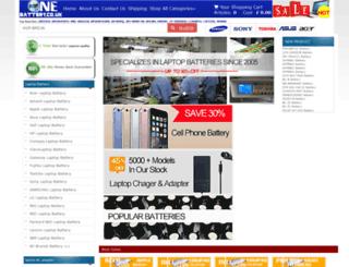 onebattery.co.uk screenshot