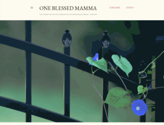 oneblessedmamma.blogspot.com screenshot