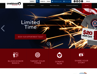 oneblood.org screenshot