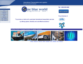 oneblueworld.ca screenshot