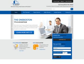 onebostontitle.com screenshot