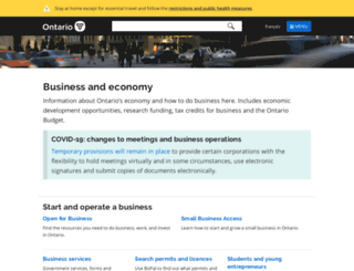 onebusiness.ca screenshot