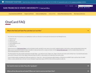 onecardonline.sfsu.edu screenshot