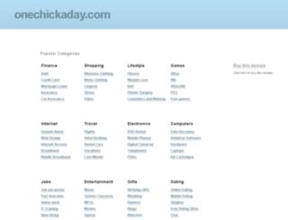 onechickaday.com screenshot