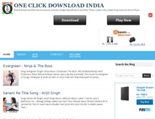 oneclickdownloadindia.blogspot.com screenshot