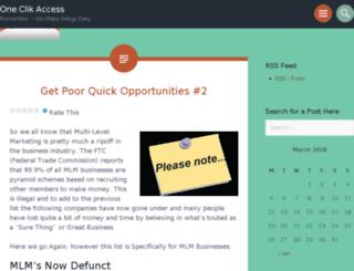 oneclikaccess.wordpress.com screenshot