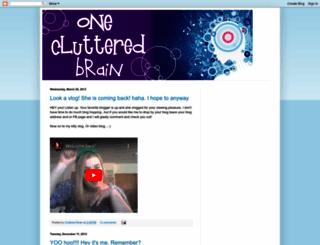oneclutteredbrain.blogspot.com screenshot