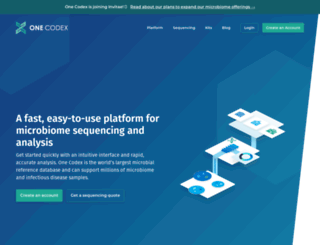 onecodex.com screenshot