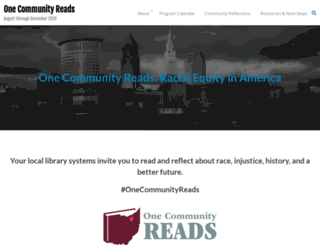onecommunityreads.org screenshot