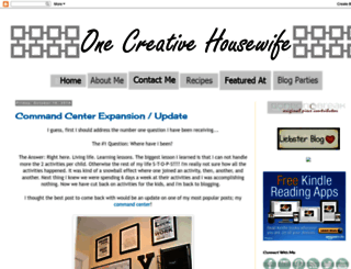 onecreativehousewife.com screenshot
