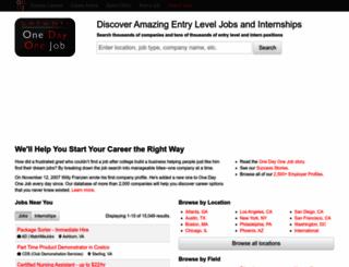 onedayonejob.com screenshot