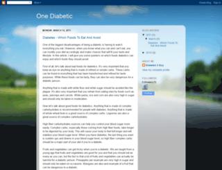 onediabetic.blogspot.com screenshot