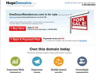 onedusunresidences.com screenshot