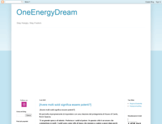 oneenergydream.blogspot.com screenshot
