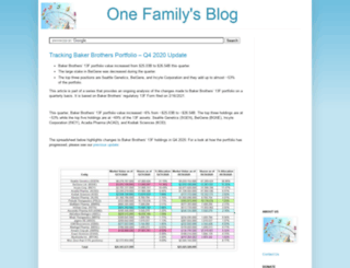 onefamilysblog.com screenshot
