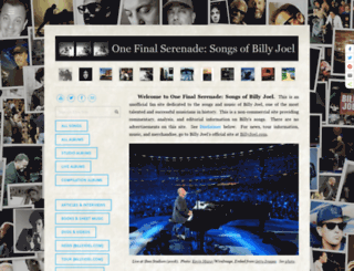 onefinalserenade.com screenshot