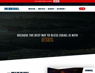 oneforisrael.org screenshot