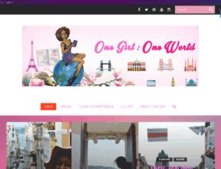 onegirl-oneworld.com screenshot