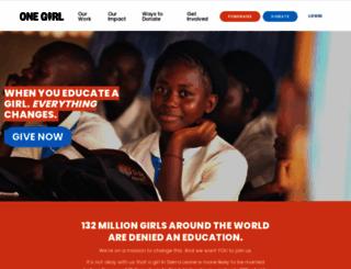 onegirl.org.au screenshot