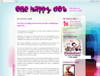 onehappydot.blogspot.com screenshot