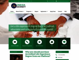 oneidauniversity.com screenshot