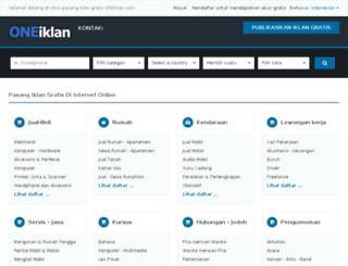 oneiklan.com screenshot