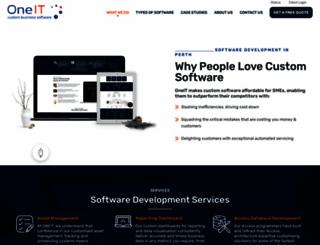 oneit.com.au screenshot