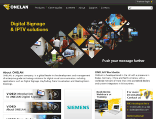 onelandigitalsignage.com screenshot