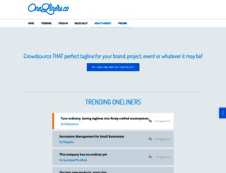 oneliners.co screenshot