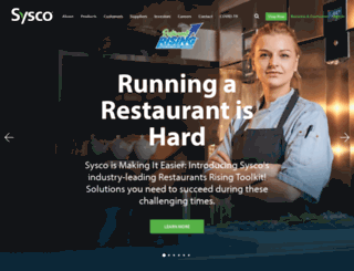 onelinkreports.sysco.com screenshot