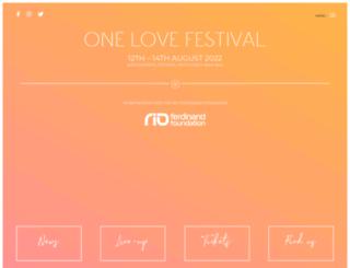 onelovefestival.co.uk screenshot