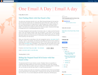 onemailaday.blogspot.com screenshot