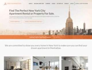 onemanhattanre.com screenshot