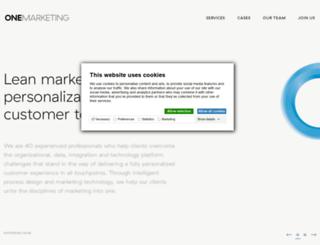 onemarketing.dk screenshot