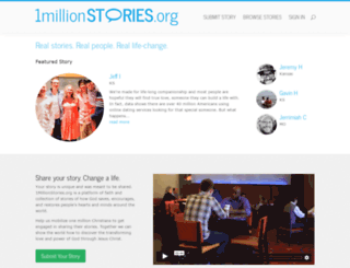 onemillionstories.org screenshot