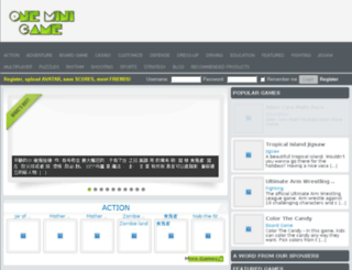 oneminigame.com screenshot
