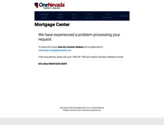 onenevada.mortgagewebcenter.com screenshot