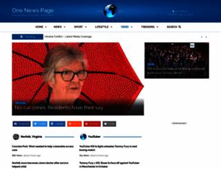 onenewspage.co.uk screenshot