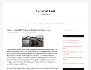 onenewspage.in screenshot