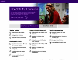 onenoteforteachers.com screenshot