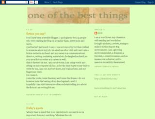 oneofthebestthings.blogspot.com screenshot