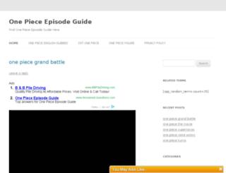 onepieceepisodeguide.org screenshot