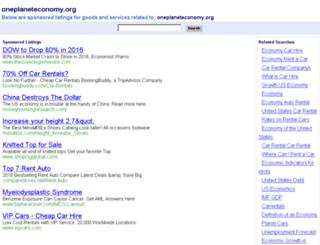 oneplaneteconomy.org screenshot